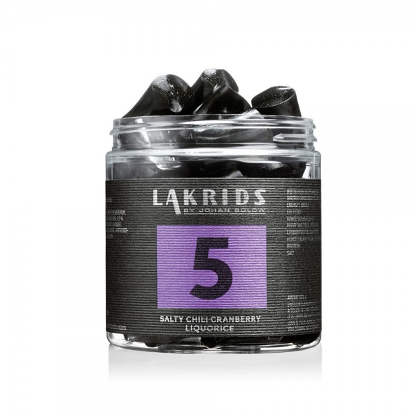 Lakrids No.5, Salty Chili Cranberry Liquorice